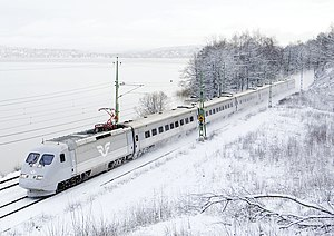SJ X2 - X2 train operated by SJ in Jonsered, Sweden