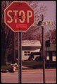 "STICKER ON STOP SIGN READS, ""THE HELL WITH SHELL""-IN PENTWATER - NARA - 547042.tif"