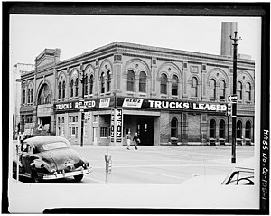 The Hertz Corporation - Street view of a Hertz location in Denver City, Colorado in 1959.