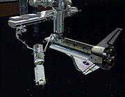 STS-115 Truss Handoff