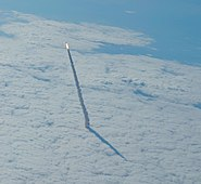 STS-134 launch seen from a shuttle training aircraft 3