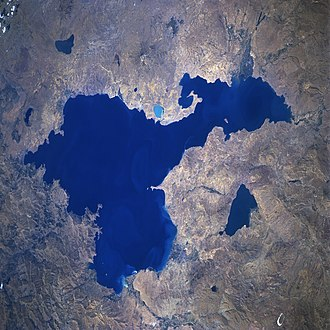 Lake Van - From space, September 1996 (top of image is roughly northwest)