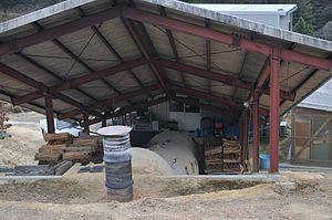 Bizen ware - A climbing noborigama kiln for producing Bizen ware