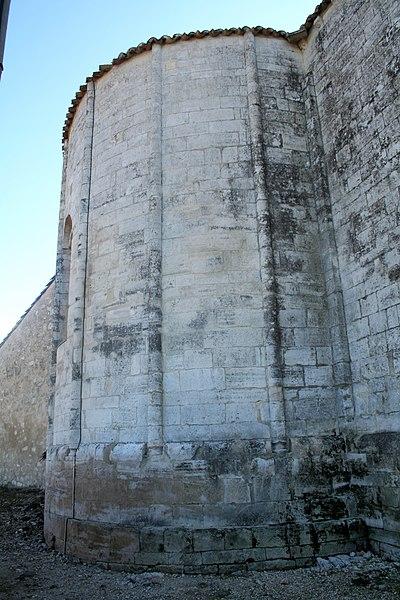 Saint-Vincent-de-Barbeyrargues (Hérault) - chevet de de l'église.
