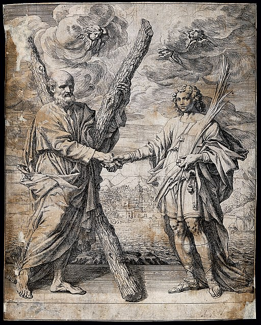 Saint Andrew the apostle with Saint John the Evangelist and Wellcome V0033161
