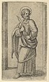 Saint Bartholomew, knife in his right hand, from the series 'Piccoli Santi' (Small Saints) MET DP853481.jpg