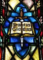 Saints Peter and Paul Roman Catholic Church (Sandusky, Ohio) - stained glass, sword of the Spirit.JPG