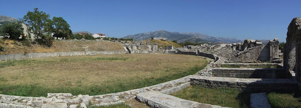 Panorama of amphitheatre in Salona