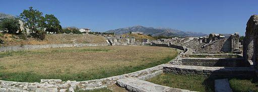 Salona - amphitheatre - panorama