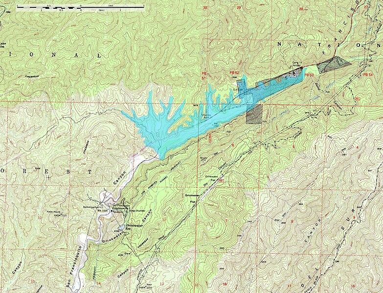 File:San Francisquito Reservoir on topo v2.jpg