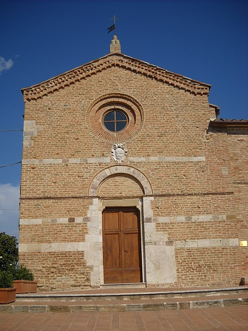 San Giovanni d'Asso, Pieve di San Giovanni Battista, facciata