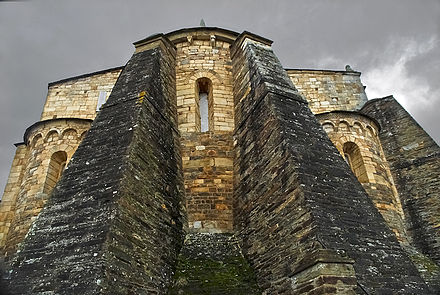 Romanesque cathedral of San Martino de Mondonedo (9th-11th centuries); first construction dates from the 6th-7th centuries San Martino de Mondonedo-Foz(Lugo).jpg