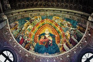Coronation of Mary by Bergognone