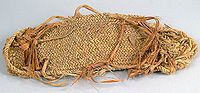 A color picture of a braided sandal