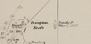 Sandy Island, New Caledonia - Image: Sandy Island on 1908 chart cropped