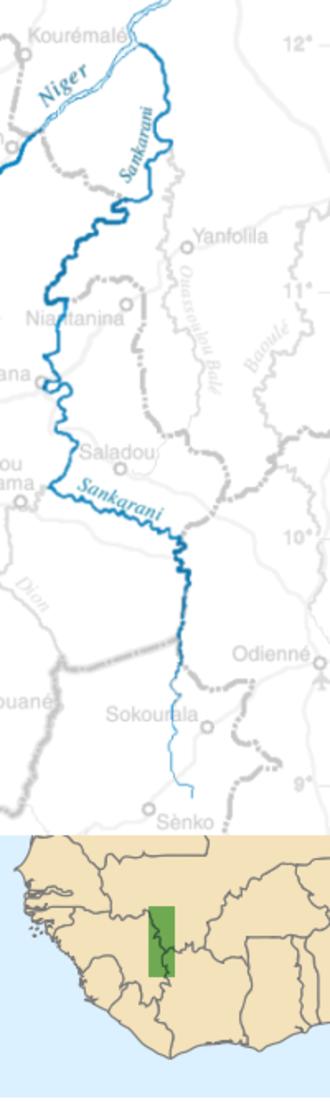 Sankarani River - Image: Sankarani river map