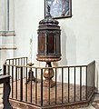 Santa Maria dei Servi (Padua) - Interior - Baptismal font.jpg