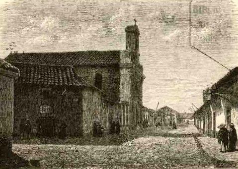 Santiago - Casa de Pedro Valdivia i Capilla de Vera Cruz (1872)