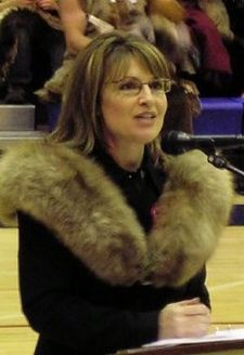 Gov. Palin in a fur coat