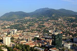 Trebević - Trebević view from Sarajevo