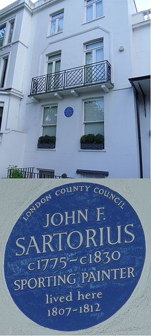 John Francis Sartorius - 155 Old Church Street, Chelsea, London; the home of Sartorius between 1807 and 1812.