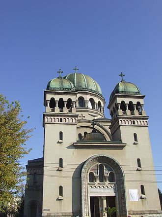 SS. Michael and Gabriel Cathedral, Satu Mare - Façade of the cathedral