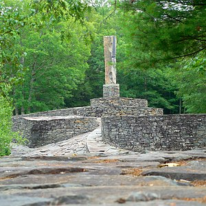 Opus 40 - View of the monolith