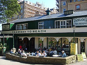 Scarborough funiculars - Central Tramway top station.