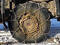 Schneekette auf einem Pirelli-LKW-Rad - 20110129.jpg