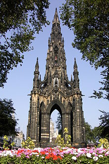 Schottland-Edinburgh-Sir Walter Scott Monument.JPG