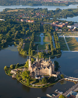 Schwerin Castle, seat of the state parliament. One of more than 2000 palaces, castles and manors in MV.