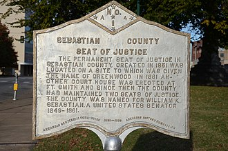 Sebastian County Courthouse-Fort Smith City Hall - Image: Sebastian County Courthouse Ft. Smith City Hall, Plaque