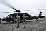 Secretary of Defense Chuck Hagel, right, walks with U.S. Air Force Lt. Gen. Salvatore Angelella, the commander of U.S. Forces Japan, after landing at Yokota Air Base, Japan, Oct. 4, 2013 131004-D-BW835-846.jpg