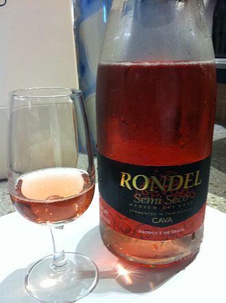 Cava (Spanish wine) - A semi-seco (semi-dry) rosado Cava