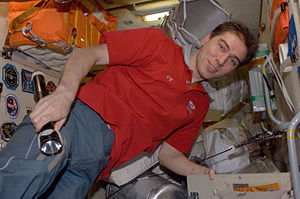 Sergey Volkov (cosmonaut) - Sergei Volkov in the Zarya module of the ISS