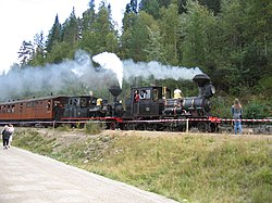 View of the Setesdal Line railway museum in Vennesla municipality