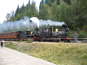 Vennesla - View of the Setesdal Line railway museum in Vennesla municipality