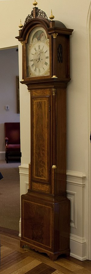 Oval Office grandfather clock - Seymour Clock in the Oval Office