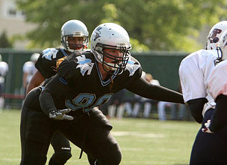 Women's American football - Sarah Schkeeper in a game between New York Sharks and the Philadelphia Firebirds