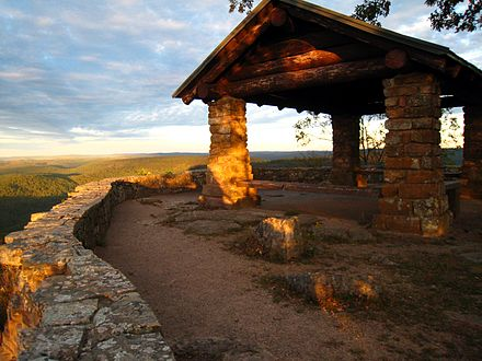CCC lookout on White Rock Mountain, Franklin County, Arkansas Shelter on White Rock Mountain.jpg