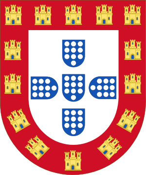 Portuguese House of Burgundy - Image: Shield of the Kingdom of Portugal (1248 1385)