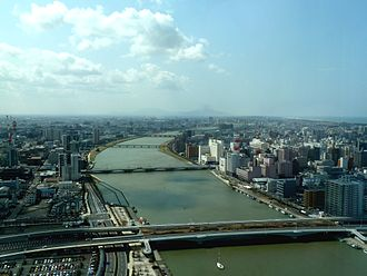 Shinano River - The Shinano River in Niigata just before it flows into the Sea of Japan