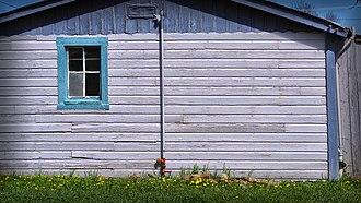 Shiplap - A shiplap house wall