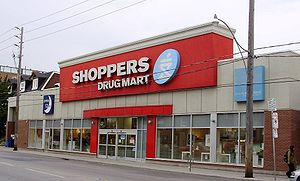 Shoppers Drug Mart - A Shoppers Drug Mart location on Dupont Street in Toronto, Ontario.