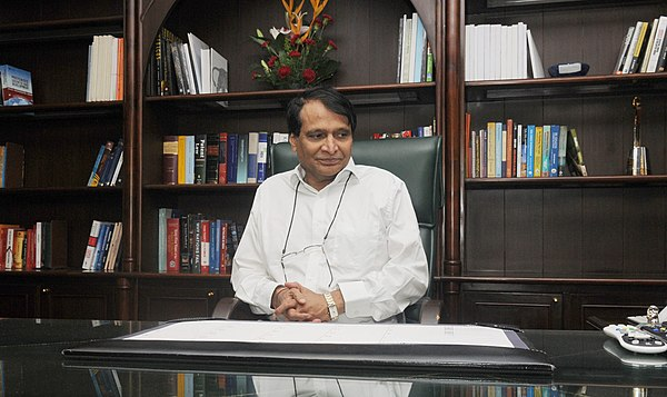 Prabhu taking charge as the Union Minister for Commerce and Industry, in New Delhi on 4 September 2017 Shri Suresh Prabhakar Prabhu taking charge as the Union Minister for Commerce and Industry, in New Delhi on September 04, 2017.jpg