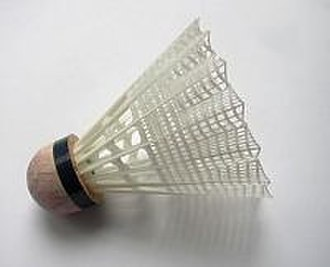 Badminton - A shuttlecock with a plastic skirt