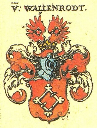 Konrad von Wallenrode - Coat of arms of the family of Wallenrode from Johann Siebmacher 1605
