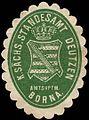 Siegelmarke Königlich Sächsisches Standesamt Deutzen - Amtshauptmannschaft Borna W0252183.jpg