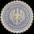 Siegelmarke K.Pr. Landrath Wollstein W0385041.jpg