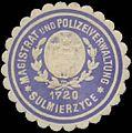 Siegelmarke Magistrat und Polizeiverwaltung Sulmierzyce W0385212.jpg
